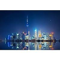 風景シリーズジグソーパズル - 上海中国 - 1000ピースジグソーパズルキッズアダルト - 大パズルゲームの興味深いおもちゃパーソナライズギフト75×50センチメートル/ 29.5x 19.7インチ