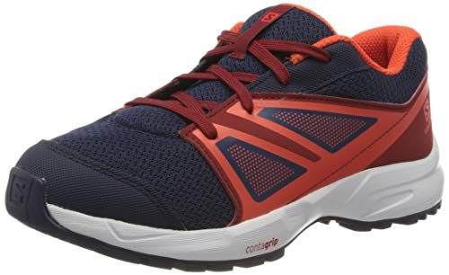Salomon Kinder SENSE J Sportschuhe, Farbe: blau/orange (Evening Blue/Red Dahlia/Cherry Tomato), Größe: EU 38