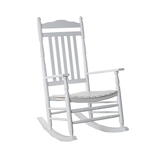 B&Z Outdoor Rocker Porch Rocking Chair Wooden Turned Finish Traditional Wood Adult Indoor