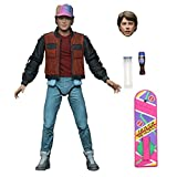 DT-Toys Back to The Future 2 Marty McFly Action Figure [Ultimate Version, Self Lacing Sneakers, Hat & Hoverboard (蓝色)