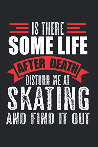 Skating Life after Death Skater Skateboard Gift: Graph Paper 1 cm (6x9 inches) with 120 pages