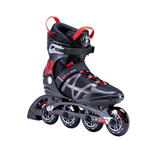 K2 Skates Damen F.I.T. 84 BOA Inline Skates, black-red, 49 EU (13 UK)