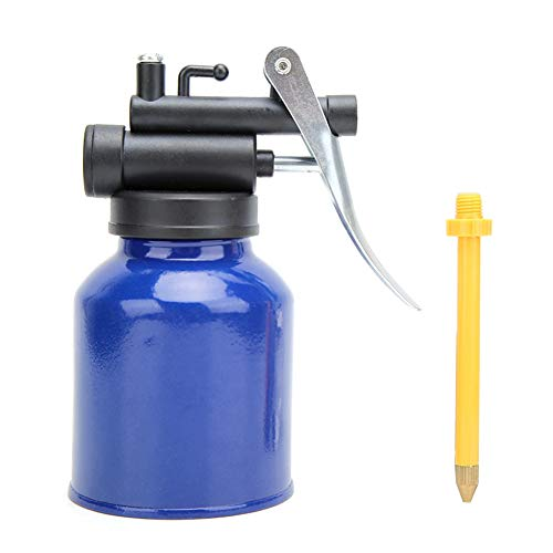 Gorgeri Lata de aceite de engrasador, lata de aceite de alta presión de engrasador de máquina de 250 ml Herramienta manual para aceite lubricante