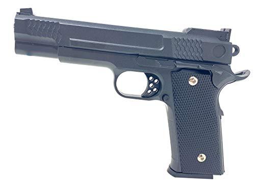 Seilershop Softair Gun Airsoft Vollmetall P20 Federdruck Kids Toy Pistole 23cm 0,5 Joule