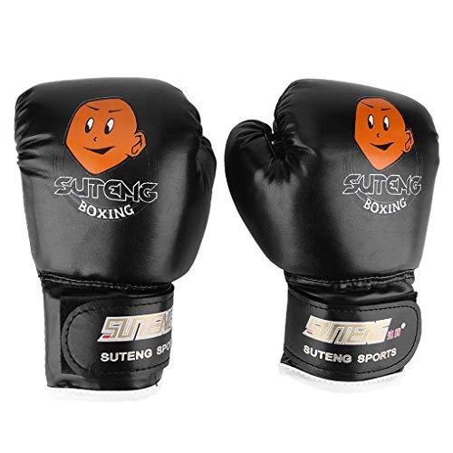 F-blue 1 Paar Kinder Boxkampf Trainings-Praxis-Handschuhe PU-Leder-Cartoon-Entwurf Boxhandschuhe 12.03 Alter