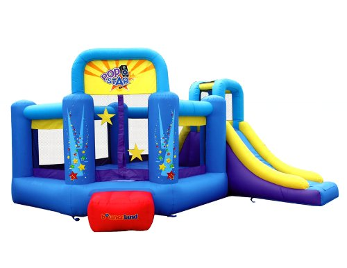 Bounceland Pop Star Inflatable Bounce House Bouncer, Large Bouncing...