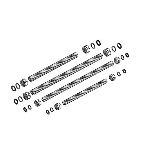 Hermann-Duval A00310009 Kit Raccordi Universali per Installazione e Sostituzione Caldaie, Bianco