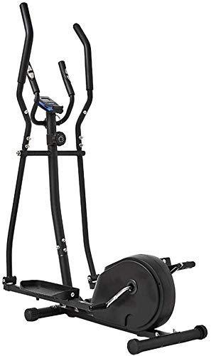 YLJYJ Home Cross Trainer, Macchine ellittiche, Resistenza Magnetica a 8 Livelli, Allenamento Cardio, volano a Due Vie da 6 kg, Display della Console con Supporto per Tablet (Cyclette)