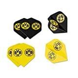 Borussia Dortmund Dartflights 6er Set, Dartpfeil-Flights BVB 09 - Plus Lesezeichen I Love Dortmund