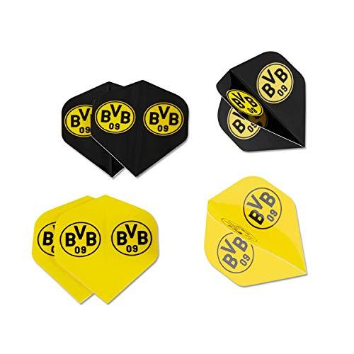 Borussia Dortmund Dartflights 6er Set, Dartpfeil-Flights BVB 09 (L)