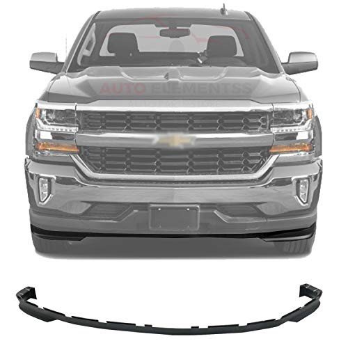 New Front Lower Valance Air Deflector Textured Plastic For 2016-2018 Chevrolet Silverado 1500 All Cab Types Direct Replacement GM1092250