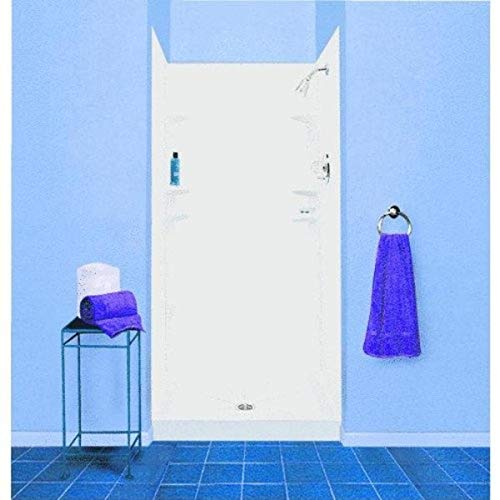 Mustee, E. L. 247WHT Durawall Shower Wall Surround Side and Back Panels, White