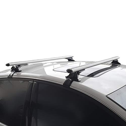 accessorypart Para BMW 2 Series F45 Active Tourer 2014-2020 Barras de Techo Portaequipajes Aluminio Gris