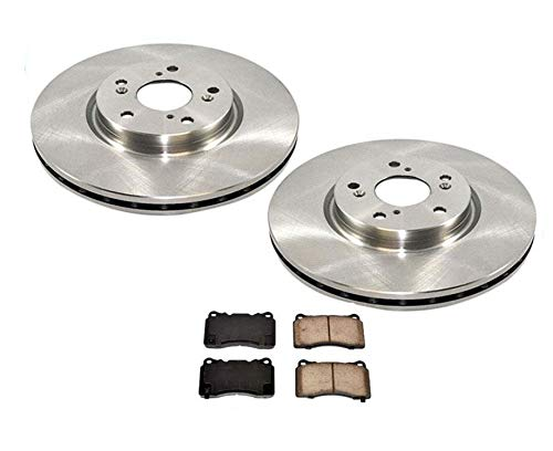 04-08 Fits For Acura TL & TL Type S (2) 310MM Front Brake Rotors & Pads Brembo Calipers