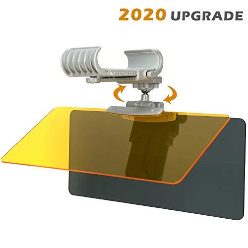 Car Sun Visor Extender 360° Rotatable Sun Visor Sun Shade Protection from Sun Glare, Snow Blindness, UV Rays, Universal Fits Cars, SUVs and RVs (2020 Upgrade)