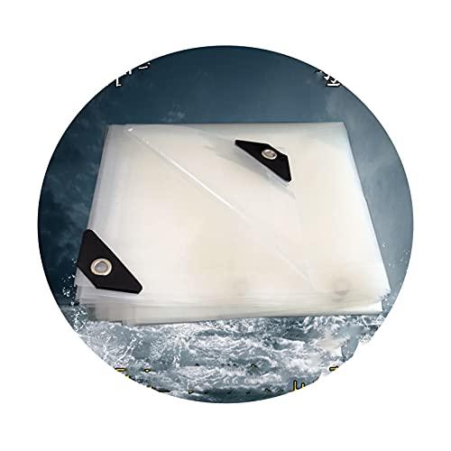 Lonas claras Tarpaulina transparente, lona impermeable a prueba de agua Fácil de plegar láminas de plástico a prueba de lágrimas y a prueba de viento para cubierta de plantas a prueba de polvo
