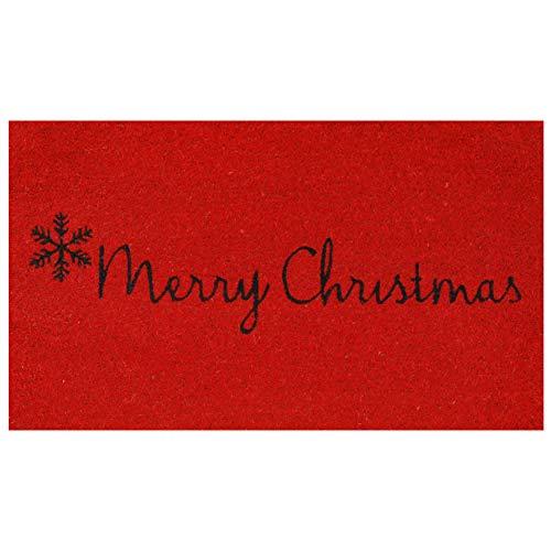 Calloway Mills 101782436 Red Merry Christmas Doormat, 24' x 36', Red/Black