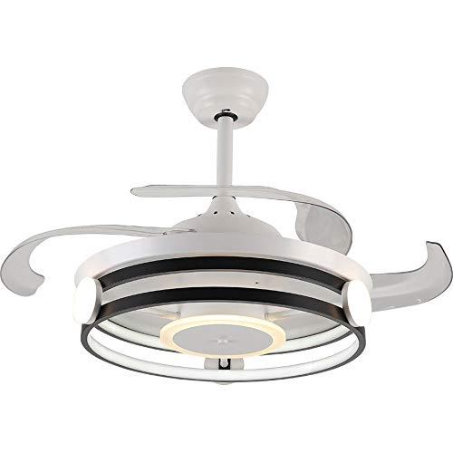 Ventilador de techo con iluminación LED Ventilador de techo de techo de temporización dimmable de 42 pulgadas con luz de techo de lámpara de luz y lámpara remota Ventilador de techo con iluminación LE