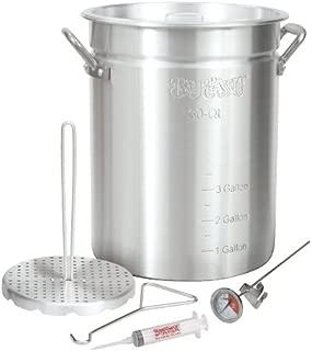 Bayou Classic 3025 30Qt Turkey Fryer Pot, 32 Quart, Silver