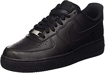 Nike Mens Air Force 1 Basketball Shoe Black/Black 10.5
