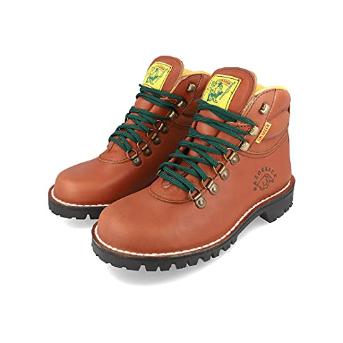 Jim Green Razorback Boots for Men Lace-Up Water Resistant Full Grain Leather Work or Hiking Boot (Tan, 9.5)