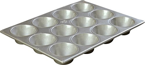 "Carlisle 601837 Steeluminum 12 Cup X-Large Cup Cupcake Pan, 17.88"" Length x 13.5"" Width, 6oz Capacity (Case of 6)"