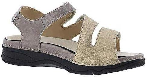 Drew Shoe Womens Angela Leather Open Toe Casual Slide Sandals