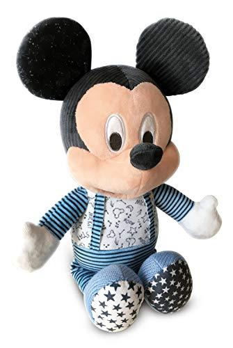 Clementoni-17394 - Baby Mickey duerme contigo - peluche bebé interactivo para dormir a partir de 6 meses