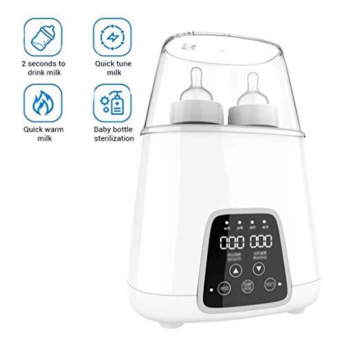 Flessenwarmer Baby, Fast Breast Milk Warmer met een timer, Babies Heater Eten met LCD-scherm nauwkeurige temperatuurregeling, geschikt for iedereen Babyflessen