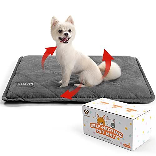 Manta Autocalentable para Gatos y Perros, 76 x 53 cm Manta Térmica Perro, Cojín de Calor Lavable, Cojín Calefactable sin Electricidad y Baterías