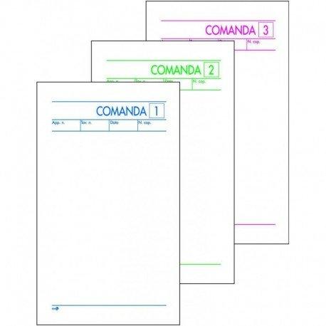 GICA - 10 blocchi comande 25x3 per ristorante, bar, pub, pizzerie, in carta chimica auto ricalcanti (10 pz - 3 copie)