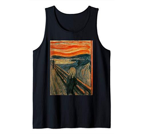 El grito de Edvard Munch- Camiseta de arte expresionista de tirantes (