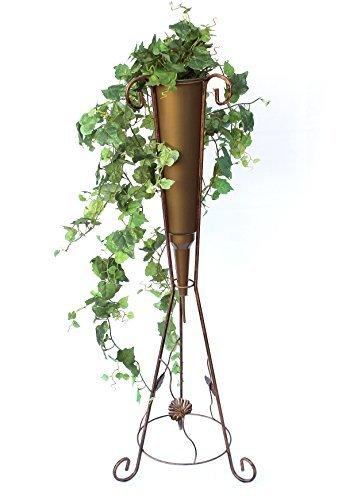 DanDiBo Bloemenzuil met vaas metaal 100 cm Bloemenstandaard Art.380 Plantenschaal Bloemenkruk