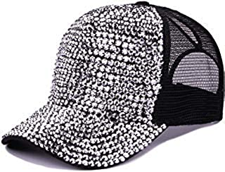 Tipsy Chics Capsmith Women's Black Fully Studded Rhinestone Baseball Hat