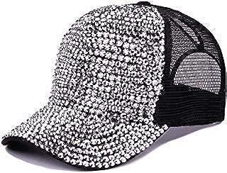 Tipsy Chics Capsmith Women's Black Fully Studded Rhinestone Baseball Hat