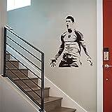 Cristiano Ronaldo, pegatina de estrella de fútbol, regalo de cumpleaños para niño, pegatina de pared, mural, papel tapiz de vinilo, póster A9 57x68cm