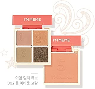 I'M MEME I'm Multi Cube 002 All About Coral Eye Shadow Quad And Cheek Blusher