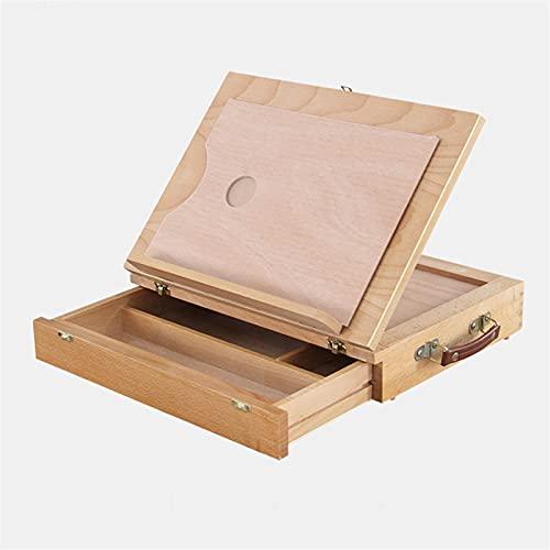 JUULLN Caballete de Mesa Plegable portátil, Cuadro de Imagen Integrado de Caballete, diseño de cajones para un fácil Almacenamiento, Soporte de exhibición Multifuncional
