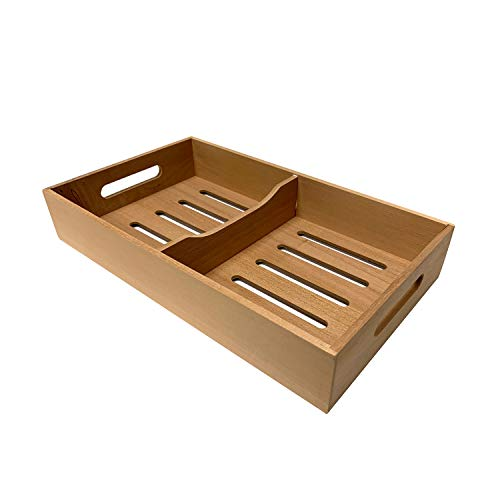 "Quality Importers Trading Spanish Cedar Tray Cigar Tray, Adjustable Divider, Fits Large Humidors, Made with Solid Spanish Cedar, Dimensions 12 7/8"" X 7 1/2"" x 2 1/3"""
