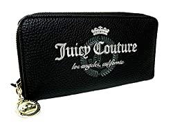 Túi xách nữ New Juicy Couture Logo Zip Around Large Wallet Black White Purse Hand Bag Clutch (Amazon)