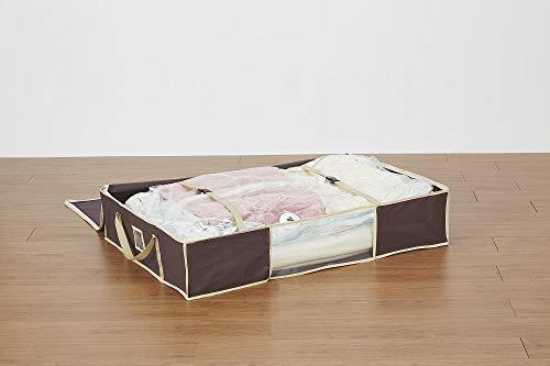 圧縮プラスふとん圧縮袋収納ケースブラウン3個セット布団一式用幅100×奥行70×高さ20cm
