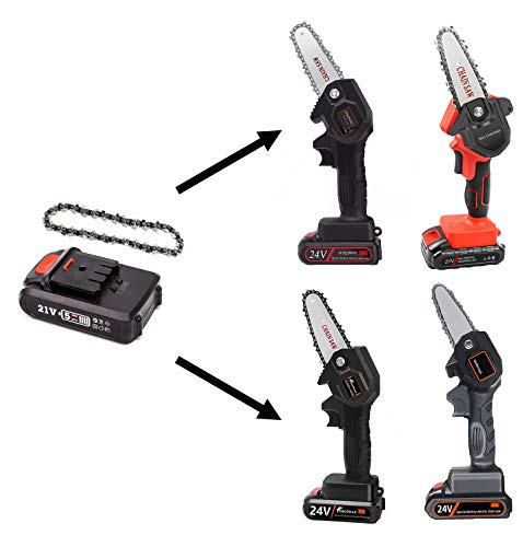 Mini Chainsaw Chain Accessories,1 Chain Saw Chain and 1 Battery for 4-Inch Mini Chainsaw Cordless Electric Handheld Rechargeable Battery Chainsaw