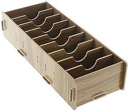 gazechimp 4X Titular de Cartão de Madeira, Caixa de Cartão Organizador de Caixa de Armazenamento para Escritório em Cerejeira