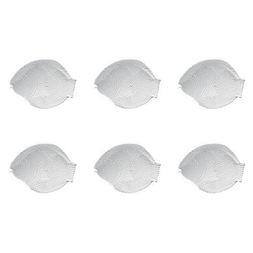 Pasabahce 6 x Fischteller/Fischservierplatte Glas Größe 35x25,4cm