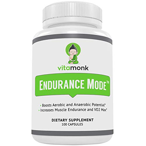 """Endurance Modeâ""""¢ Endurance Supplement by Vitamonk - Fast Acting Endurance Booster - Break Through Plateaus With Quick V02 Boost Made With All-Natural Cordyceps Sinensis, L-Carnitine L-Tartrate and More"""