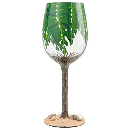 Lolita Palm Tree Wine Glass Taza, Vidrio