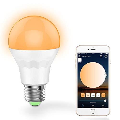 DIRIGIÓ Bombilla universal E27 7.5W blanco fresco blanco caliente de Smart Wifi Bombilla de luz LED trabajo con Alexa Google Inicio AC100-264V