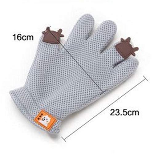 YUNGYE Haustier-Haar-Handschuh-Katzen-Bürsten-Kamm for Haustier-Pflegenhundereinigungs-Massage-Versorgungsmaterial for Tierfinger-Reinigungs-Katzen-Haar-Handschuh 5pcs / Lot (Color : Gray, Size : L)