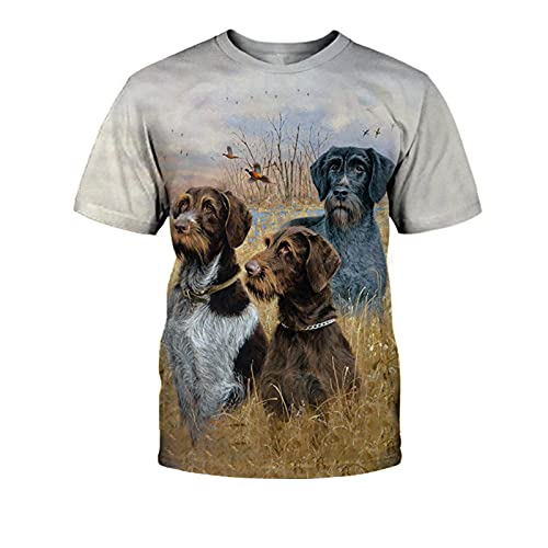 SSBZYES Camiseta para Hombre Camiseta De Verano con Cuello Redondo para Hombre Camiseta De Manga Corta para Hombre Camiseta De Gran Tamaño para Hombre Camiseta con Estampado De Perro Camiseta Suelta