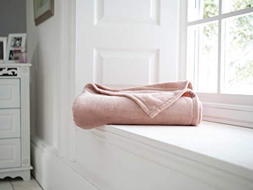 Yorkshire Linen Snuggle Touch Rosa Colcha / Manta - 140x180cm